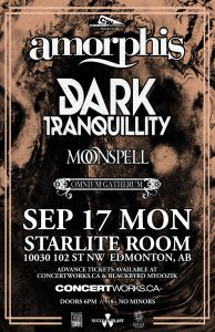 AMORPHIS – Starlite Room – Monday September, 17