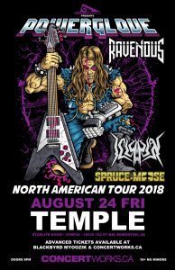 POWERGLOVE – TEMPLE – Edmonton – Friday August 24