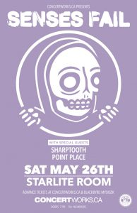 Senses Fail – Starlite Room – Saturday May 26