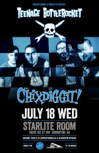 Teenage Bottlerocket – Starlite Room – Edmonton, AB – July 18