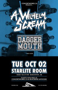 A Wilhelm Scream – Starlite Room – Tue Oct 02