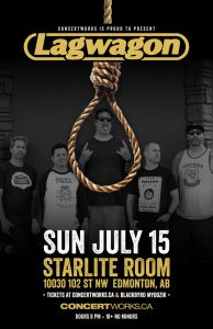 Lagwagon – Starlite Room – Sun July 15 2018