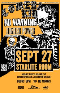 Comeback Kid – Starlite Room – Thu Sept 27