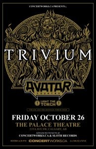 Trivium – The Palace Theatre – Calgary – Fri Oct 26