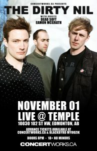 The Dirty Nil – TEMPLE – November 01