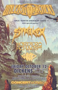 Unleash The Archers & Strike – Dickens Pub – Fri October 12