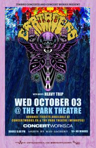 Earthless –  The Park Theatre, Winnipeg – October 3rd