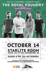 The Royal Foundry – Starlite Room – October 14