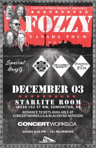 Fozzy – December 3 – Starlite Room