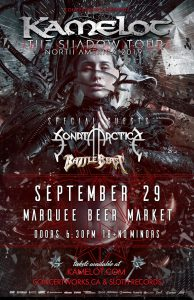 Kamelot – Marquee Beer Market – September 29