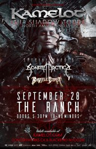 Kamelot – The Ranch – September 28