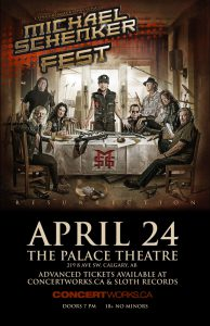Michael Schenker Fest – The Palace Theatre – April 24