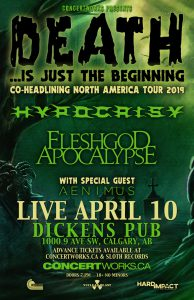 HYPOCRISY – Dickens Pub – April 10