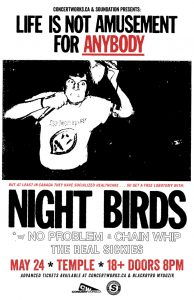 Night Birds – TEMPLE  Edmonton – May 24