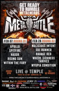 Wacken Metal Battles 2019 – TEMPLE EDMONTON – FEB 28