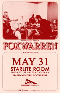 FOXWARREN – Starlite Room – May 31