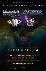 Enforcer/Warbringer – Starlite Room Edmonton – September 14