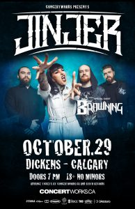 Jinjer – Dickens Calgary – October 29