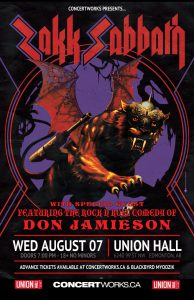 Zakk Sabbath – Union Hall Edmonton – Aug 07