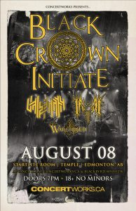 Black Crown Initiate  – Starlite Room Temple – Edmonton – Aug 08