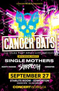 Cancer Bats – Starlite Room Edmonton – September 27