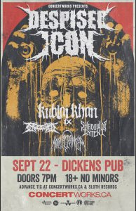 Despised Icon – Dickens Pub Calgary – September 22