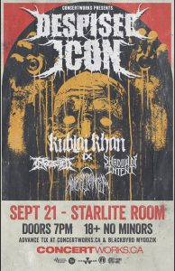 Despised Icon – Starlite Room Edmonton – September 21