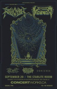 REVOCATION & VOIVOD – Starlite Room Edmonton – September 20