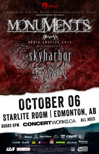 Monuments – Starlite Room Edmonton – October 06