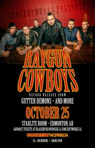Raygun Cowboys – Starlite Room Edmonton – October 25