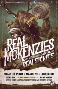 The Real Mckenzies – Starlite Room Edmonton – March 13