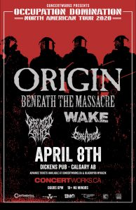 ORIGIN – Dickens Pub Calgary – April 8th