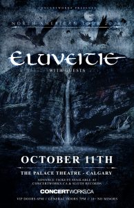 Eluveitie – The Palace Calgary – Oct 11